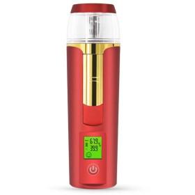 美容スチーマー 携帯 マイナスイオン 肌水分量測定 コールドスプレー 旅行 オフィス 車の使用 30ml USB充電式 モバイルパワー (Color : ARed)