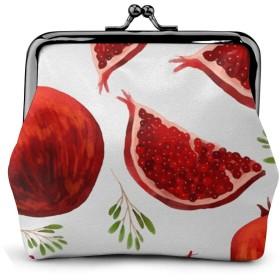 Pomegranate Pattern NUBOMINI 小銭入れ 化粧品収納 財布 PU合成皮革 可愛いポーチ アクセサリー収納袋 大容量 ポーチ