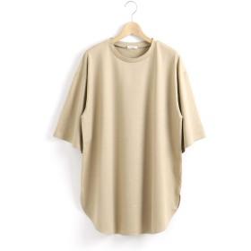 (ルクールブラン) le.coeur blanc ラウンドヘムBIG Tシャツ 38 ベージュ