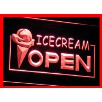 ADVPRO i015-r Open Ice-cream Icecream Ice cream Ads Light Sign