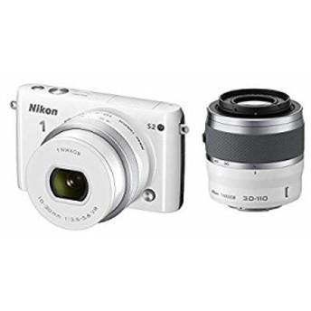 Nikon ミラーレス一眼 Nikon1 S2 ダブルズームキット ホワイト S2WZWH(中古品)