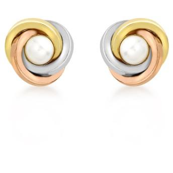 カリッシマゴールドウィメンズローブイヤリング(イエロー/ホワイト/ピンクゴールド9K(375))