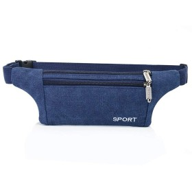 SimpleLifeファッションメンズキャンバススポーツウエストパックバッグポーチベルトトラベルヒップジッパーポケット