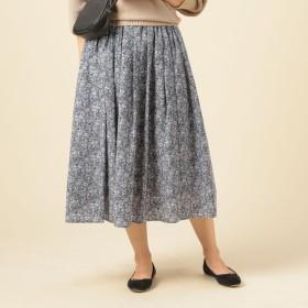 [マルイ]【セール】割繊デシンギャザースカート75c丈/ドゥ アルシーヴ(Doux archives)
