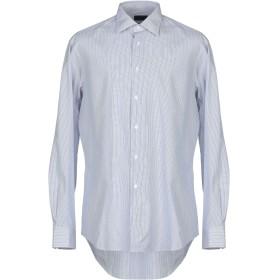 《期間限定セール開催中!》PAL ZILERI メンズ シャツ ダークブルー 40 コットン 100%