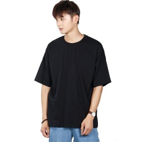 RAZZLL ビッグシルエット Tシャツ ドロップショルダー タイプ メンズ (XXL, BLACK)