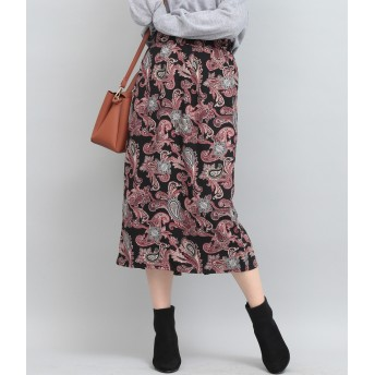ViS(ビス)/【WEB限定】ペイズリーストレートスカート