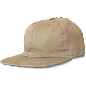 Newhattan ニューハッタン CAP コットン 平ツバ ローキャップ 無地 帽子 1480 FLAT VISOR (カーキ)