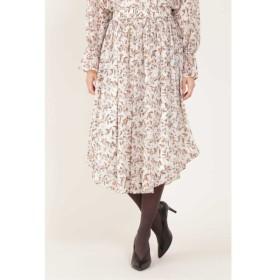 NATURAL BEAUTY / ◆[ウォッシャブル]フラワープリントウェストゴムギャザーフレアースカート