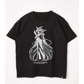 [アールフォージ―] tシャツ 【初音ミク】LUCKY☆ORB MIKU ART TEE 490CSU90-015M L ブラック レディーズ