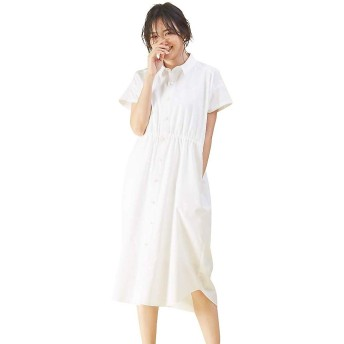 (カリテ) qualite ワンピース・ドレス ラウンドカットシャツワンピース レディース オフホワイト 36(S)