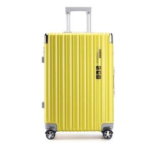男女兼用PCトロリーケース、360°ミュートキャスタースーツケース、TSA税関ロックボックス、抗ストレススーツケース、出張旅行-yellow-XXL