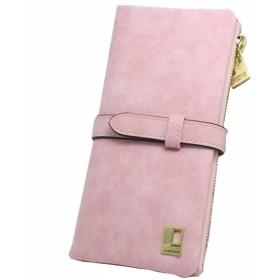 BOBIDYEE 女性のための女性のRFIDブロッキングサンディングレザーマルチカードオーガナイザー財布ファッションパッケージ (色 : ピンク)