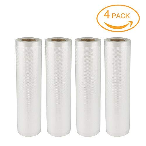 50 Length Each Roll PKVS20STS PKVS18SL PKVS10WT 11 Width For NutriChef PKVS10BK PKVS18BK PKVS30STS and Other Vacuum Air Sealing Systems Rolls Vacuum Sealer Bags NutriChef PRTPKVS14RL 2