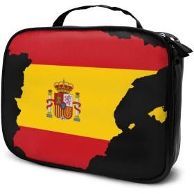 スペインマップポータブルトラベルメイクアップ化粧品バッグオーガナイザー多機能ケーストイレタリーバッグ女性用