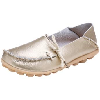 [Lutents_革の靴] 母カジュアルソフトシューズナースタイフラットシューズ女性のカジュアルドライビングシューズ 学生 少女 さん 美脚 アウトドア 可愛い ファッション 通勤 快適な 歩く 通学 春、夏、秋、冬