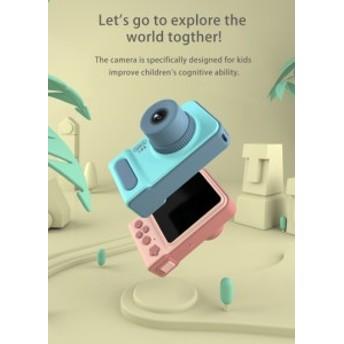 キッズデジタルカメラ 300万画素写真撮影 1080P ビデオ撮影 2インチ液晶画面 フレーム、フィルター内蔵