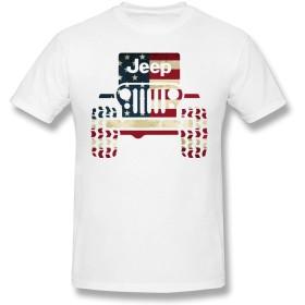 Jeep American Flag ジープ アメリカン フラッグ メンズ Tシャツ 半袖tシャツ おおきいサイズ 夏服 スポーツ カップル セット 吸汗速乾 Tシャツ 綿100% 男女兼用