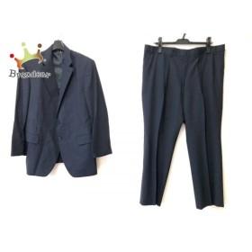 ダーバン DURBAN シングルスーツ メンズ ダークネイビー ネーム刺繍/ストライプ/薄手 新着 20190912
