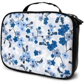 かわいいミニマルな優しいロマンチックな花ポータブル旅行トイレタリーバッグ化粧オーガナイザー化粧品袋ポーチ用女性女の子