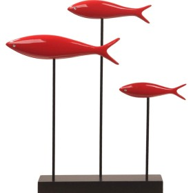 シンプルな魚の装飾、現代の家の装飾リビングルームテレビキャビネット金属装飾オフィスソフト装飾,赤,threefish