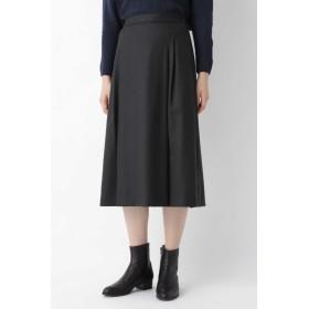 HUMAN WOMAN ◆ウールサキソニーストレッチスカート ひざ丈スカート,スミクロ1