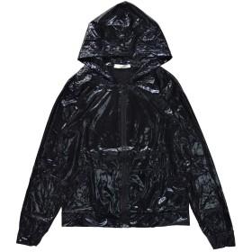 [エーシーディーシーラグ] メタリックパーカー ZIP ダンス衣装 レディース (ブラック)