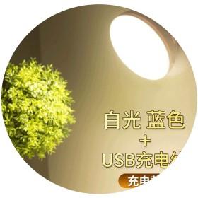 クリエイティブ寝室led赤外線センサーナイトライト360スマートホーム製品キャビネットライトusb充電ワードローブライト,青白ライトチャージ,0。5