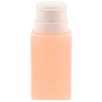 200ml ネイルアート ディスペンサーポンプボトル ネイルサロン 4色選べ - オレンジ