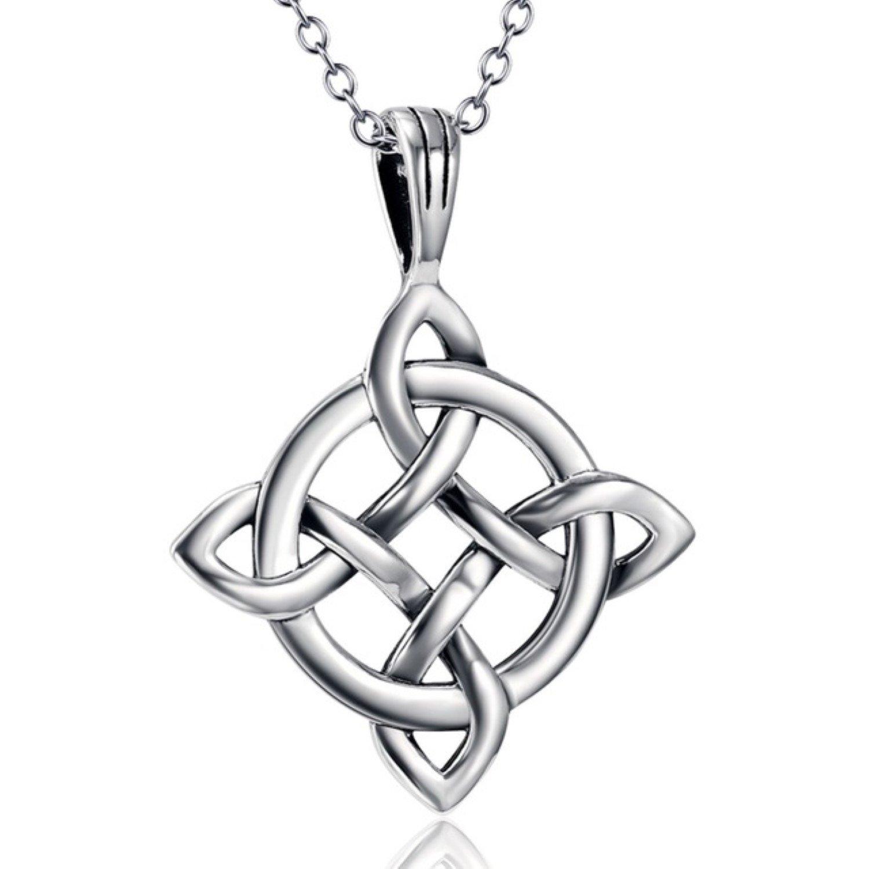CS-DB Love Heart Knot Top Stylish Silver Necklaces Pendants