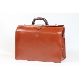ダレスバッグ 本革 メンズ A4 豊岡製鞄 日本製 口枠 ビジネスバッグ 22304 (08-濃茶)