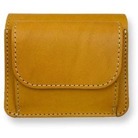 全6色 LIBRO リベロ 日本製 栃木レザー ミニ2つ折り財布財布 ミニウォレット(lah-07) (キャメル)
