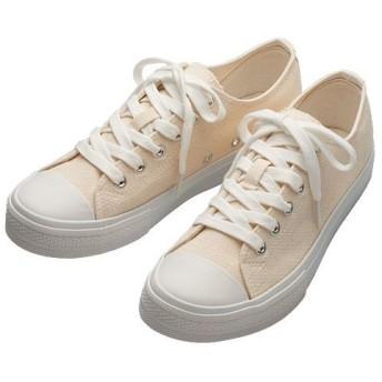 70%OFF【レディース大きいサイズ】 リニューアル!靴ひも長めのシンプルスニーカー - セシール ■カラー:オフホワイト ■サイズ:25cm,25.5cm,26cm