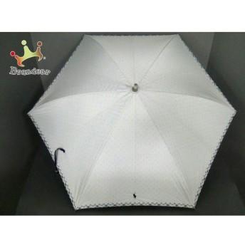 ポロラルフローレン POLObyRalphLauren 傘 美品 白×黒 刺繍 化学繊維 新着 20190912