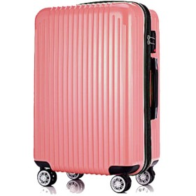 旅行スーツケース、ラゲッジバッグ、ユニバーサルホイールABSレバー、ボックス搭乗用ハードボックス、学生用バッグ、軽量スーツケース-Rosegold-S