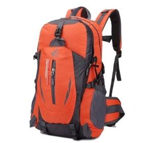 MARIAH(マリア)リュックサック バックパック 登山リュック 大容量 防水 超軽量 30L 背中通気 登山ザック アウトドア 登山バックパック旅行バッグ オレンジ