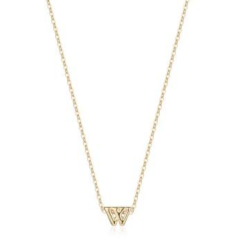 小さなイニシャルネックレス 14Kゴールドメッキ 上品なレターネックレス 繊細な小さなイニシャルネックレス パーソナライズされたモノグラムネームネックレス 女の子用 ゴールド