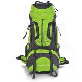 登山バッグ ユニセックスアウトドアスポーツ登山用バックパック防水大容量通気性サスペンションブラケット多目的肩旅行で野生のキャンプ (色 : 緑)