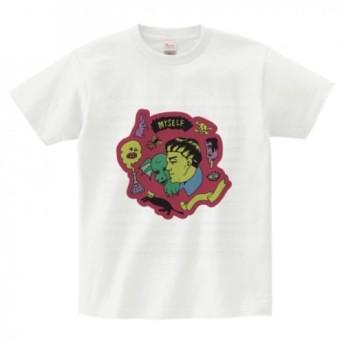 「MY SELF」 Tシャツ (Illust by Satomi Kawai)