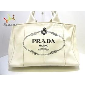 プラダ PRADA トートバッグ CANAPA BN1877 アイボリー×黒 キャンバス  値下げ 20190918