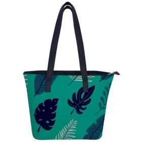 熱帯植物ハンドバッグレディースショルダーバッグレザーハンドバッグ大容量軽量ハンドバッグ旅行学校通勤ショッピングファッションショルダーバッグ