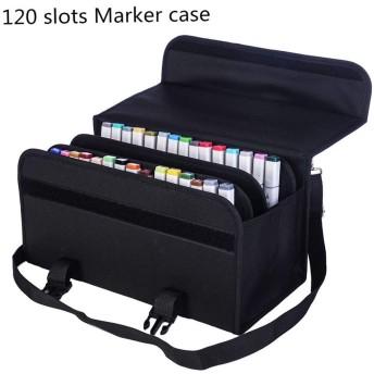 Olike 120スロットマーカーペン携帯ケースホルダーバッグprimascolorのマーカーとCopicスケッチ、マーカー、PermanentペイントマーカーDry Eraseマーカー、カラー蛍光ペン MAR120