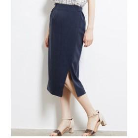 【ROPE' PICNIC:スカート】シャンブレーペンシルスカート