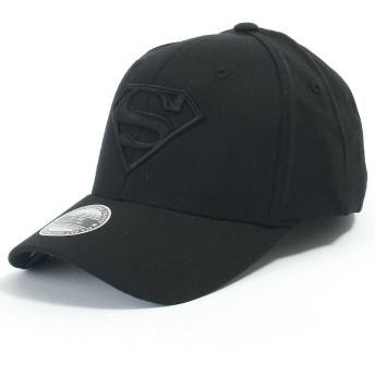 (イリリリー) ililily スーパーマン 野球 キャップ スーパーマン シールド 刺 エンブロイダリー フィット トラッカー 帽子, Black, Large