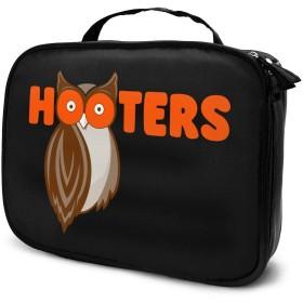 化粧ボックス メイクボックス Hooters 女性 ビューティー 収納ケース 洗面用品入れ 機能的 大容量 大人気 質感 ファッション 持ち運びやすい ダブルファスナー 化粧品収納 手触りよく 長持ち 撥水加工 耐衝撃 普段 旅行 プレゼント