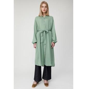 【MOUSSY:ワンピース】SATIN SHIRT ロングドレス