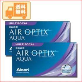 【送料無料】日本アルコン(旧チバビジョン)エアオプティクスマルチフォーカル 遠近両用 1箱(6枚入り)2箱セット 2週間