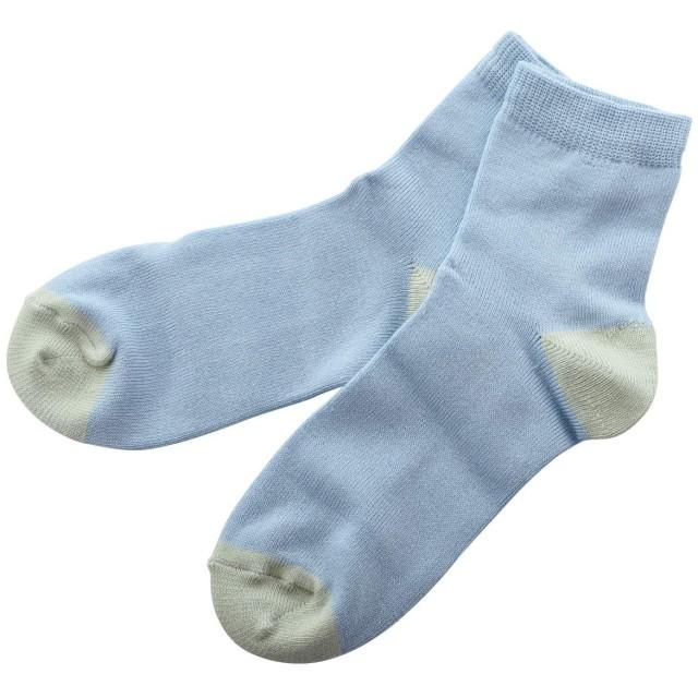 (モイソク)moisok beauty クルー丈 ソックス 靴下 かかと保湿シート付き 無地 レディース 23-25cm(SX-サッ