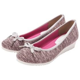 50%OFFバレエウエッジシューズ - セシール ■カラー:ピンク系 ■サイズ:23cm