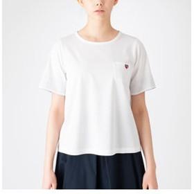 【BLUE LABEL / BLACK LABEL CRESTBRIDGE:トップス】プレーティングシルケット天竺ハートTシャツ